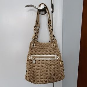 the Sak golden beige  shoulder bag